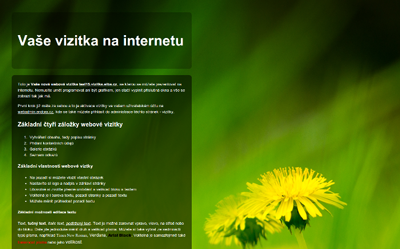 Jednoduchý redakční systém webhostingu Endora.cz