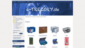 náhled webu a-trezory.sk
