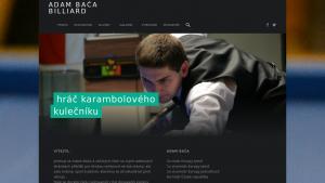 náhled webu adambaca-billiard.cz