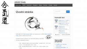 náhled webu aikido-uvaly.cz
