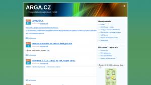 náhled webu arga.cz