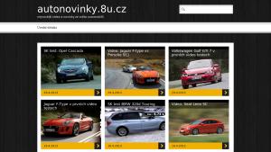 náhled webu autonovinky.8u.cz