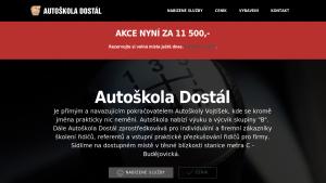 náhled webu autoskola-dostal.cz