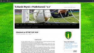 náhled webu banikrtyne-fotbal.cz