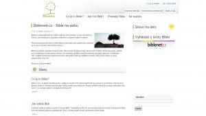 náhled webu bibleweb.cz
