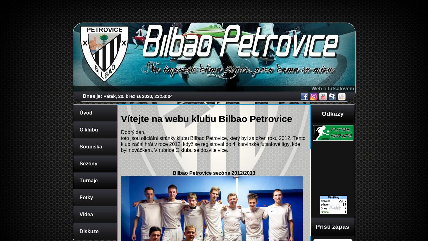 náhled webu bilbaopetrovice.4fan.cz