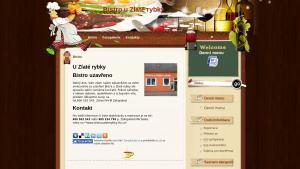 náhled webu bistrouzlaterybky.8u.cz