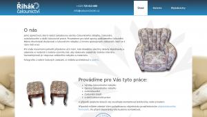 náhled webu calounictvizlin.cz