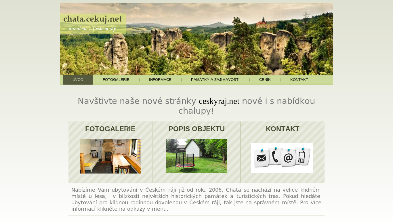 náhled webu chata.cekuj.net
