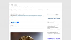 náhled webu czshares.com