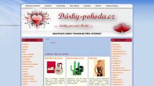 náhled webu darky-pohoda.cz
