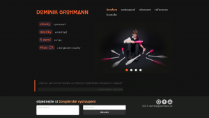 náhled webu dominikgrohmann.cz
