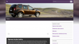 náhled webu duster.cekuj.net