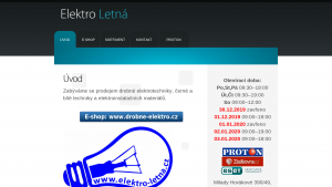 náhled webu elektro-letna.cz