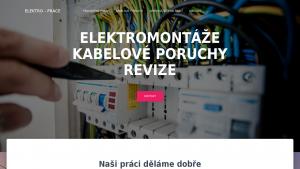 náhled webu elektro-prace.eu