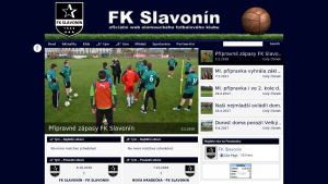 náhled webu fotbalslavonin.cz
