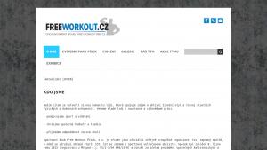 náhled webu freeworkout.funsite.cz