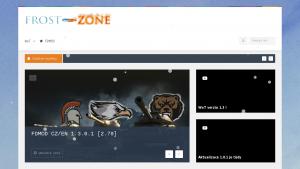 náhled webu frost-zone.eu