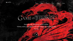 náhled webu gameofthrones.6f.sk