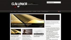 náhled webu gauner.jecool.net