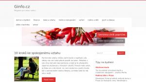 náhled webu ginfo.cz