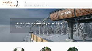 náhled webu hory-krusne.eu
