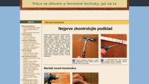 náhled webu jaknato-prace-se-drevem.clanweb.eu