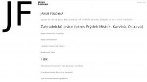 náhled webu jakubfoldyna.cz