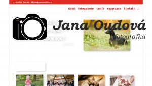 náhled webu jana-oudova.cz