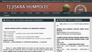 náhled webu jiskrahumpolec.hys.cz