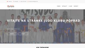 náhled webu judoklubpoprad.6f.sk