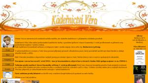 náhled webu kadernictvivera.cz