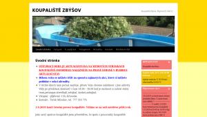 náhled webu koupaliste-zbysov.cz