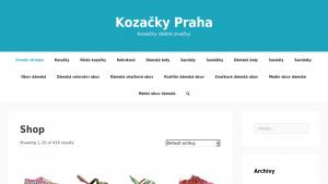 náhled webu kozacky-praha.cekuj.net