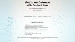 náhled webu koznikrskova.cz