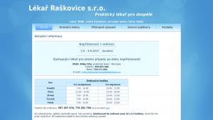 náhled webu lekar-raskovice.cz