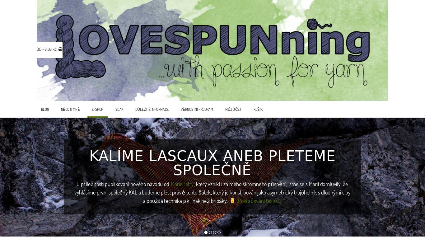 náhled webu lovespunning.cz