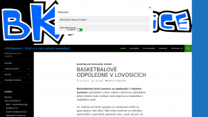 náhled webu lovobasket.cz