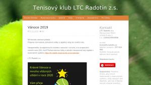 náhled webu ltcradotin.cz