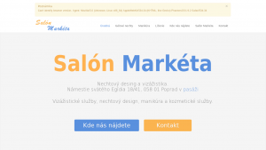 náhled webu marketa.6f.sk
