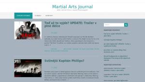 náhled webu martialarts-journal.4fan.cz