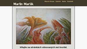 náhled webu martinmarsik.cz