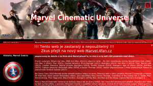 náhled webu marvel-mcu.4fan.cz