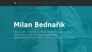 náhled webu milanbednarik.tode.cz