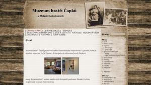 náhled webu muzeum-bratri-capku.g6.cz