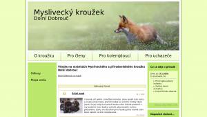 náhled webu mysliveckykrouzek.hys.cz