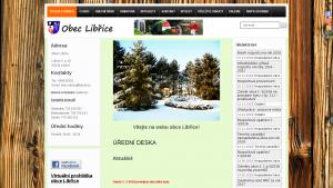 náhled webu obeclibrice.cz