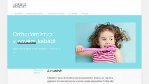 náhled webu orthodontist.cz