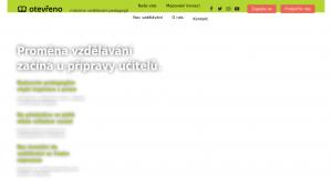 náhled webu otevreno.org