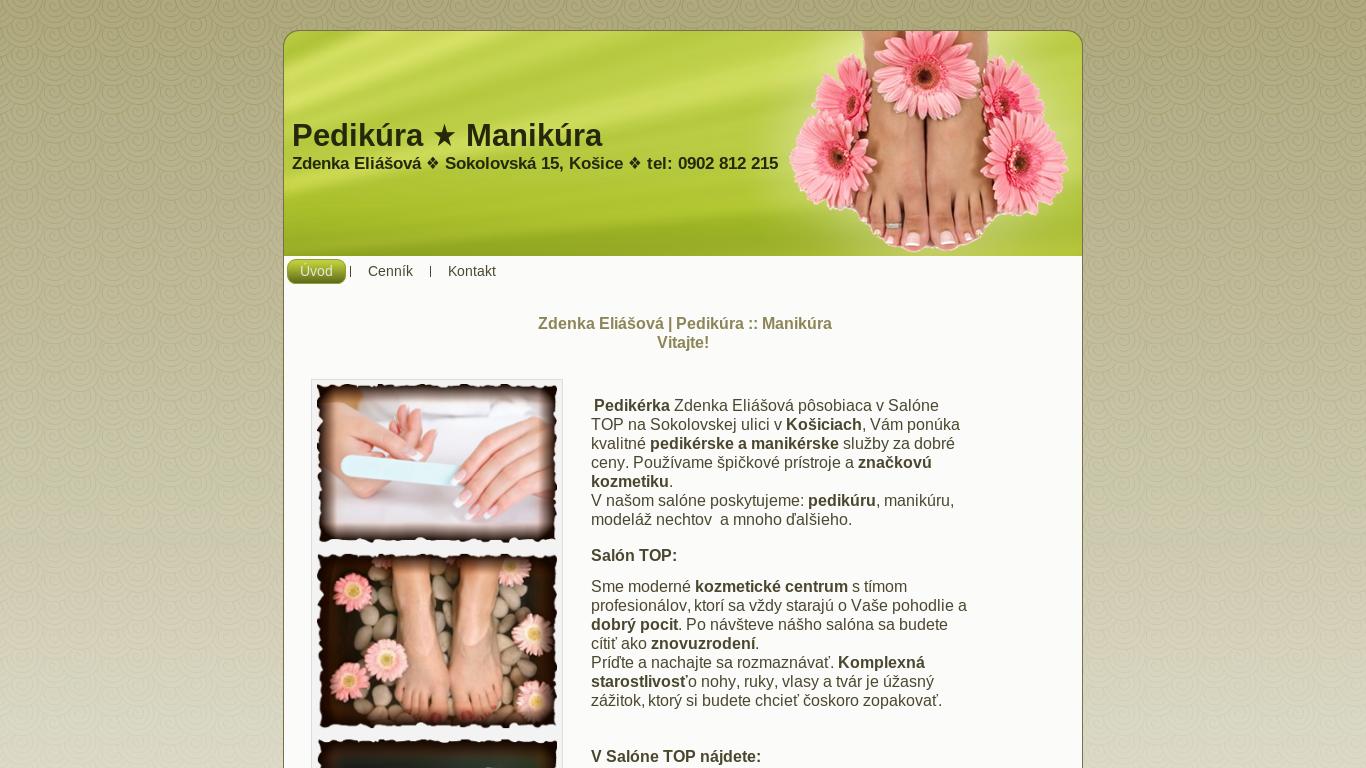 náhled webu pedikura-ke.6f.sk